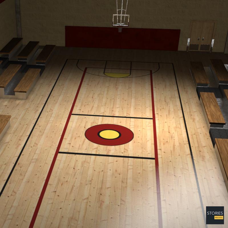 Basketball court stories preschool for Badminton court ceiling height